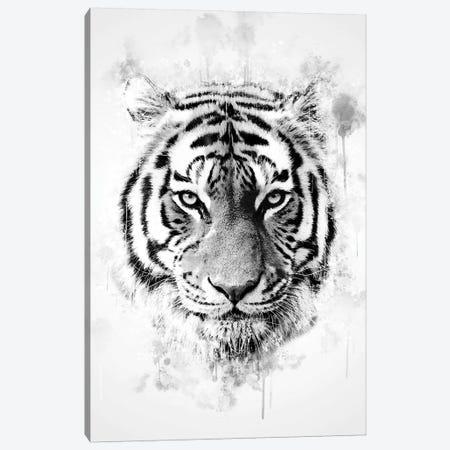 Tiger Head Canvas Print #CVL157} by Cornel Vlad Canvas Artwork