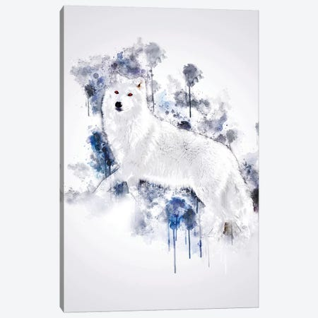 White Wolf Canvas Print #CVL159} by Cornel Vlad Canvas Art Print