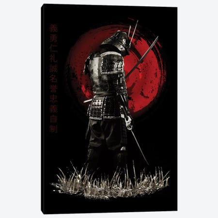 Bushido Samurai Back Turned Canvas Print #CVL15} by Cornel Vlad Canvas Wall Art