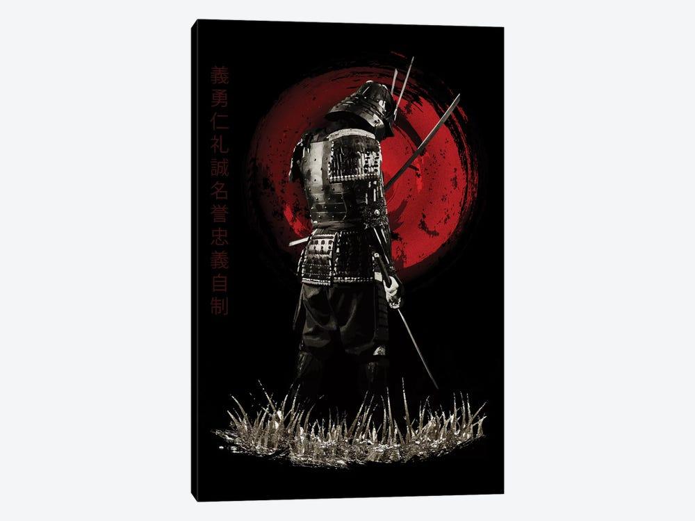 Bushido Samurai Back Turned by Cornel Vlad 1-piece Canvas Art Print