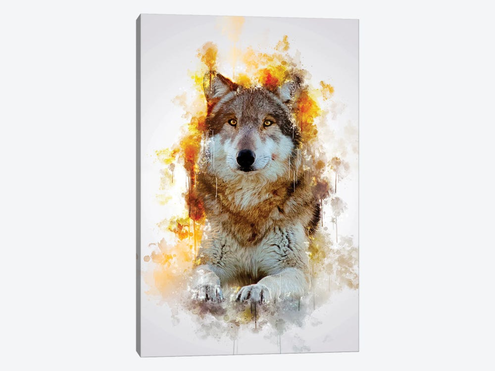 Wolf by Cornel Vlad 1-piece Canvas Artwork