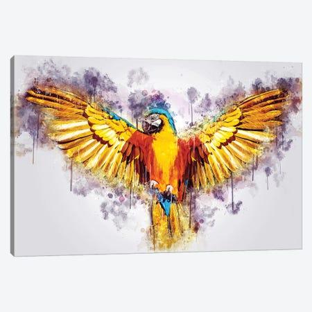 Yellow Parrot Canvas Print #CVL162} by Cornel Vlad Canvas Artwork