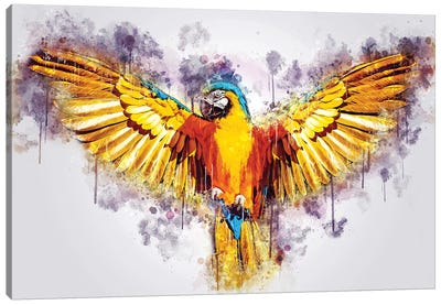 Yellow Parrot Canvas Art Print