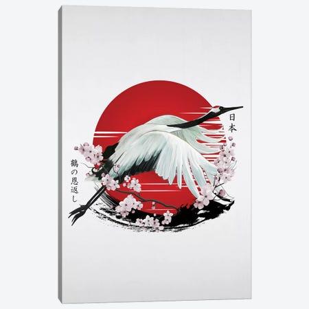 Japanese Red Crane Tsuru Canvas Print #CVL167} by Cornel Vlad Canvas Print