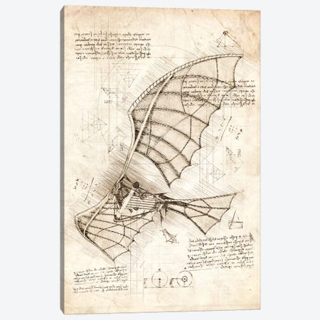 Flying Machine Canvas Print #CVL168} by Cornel Vlad Canvas Wall Art