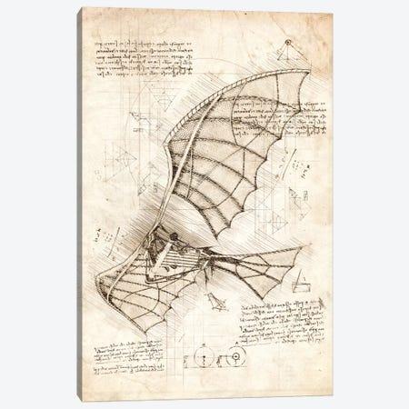 Flying Machine Canvas Print #CVL168} by Cornel Vlad Canvas Wall Art