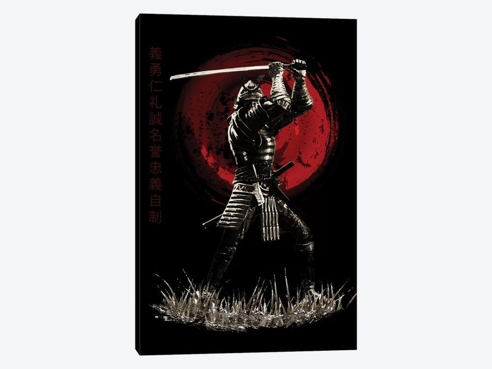 Bushido Samurai Blocking by Cornel Vlad 1-piece Canvas Art