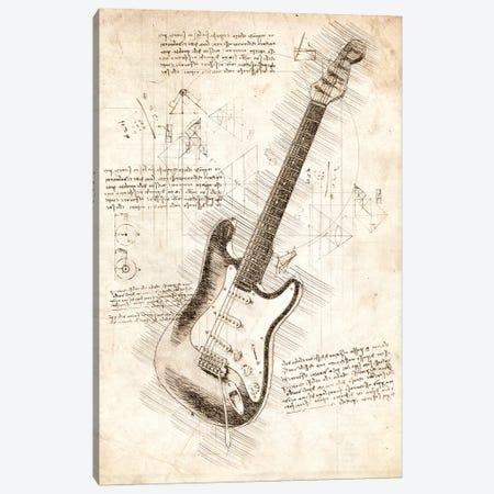 Electric Guitar 3-Piece Canvas #CVL171} by Cornel Vlad Canvas Art Print