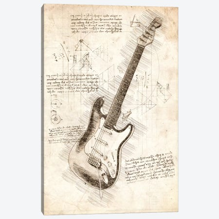 Electric Guitar Canvas Print #CVL171} by Cornel Vlad Canvas Art Print