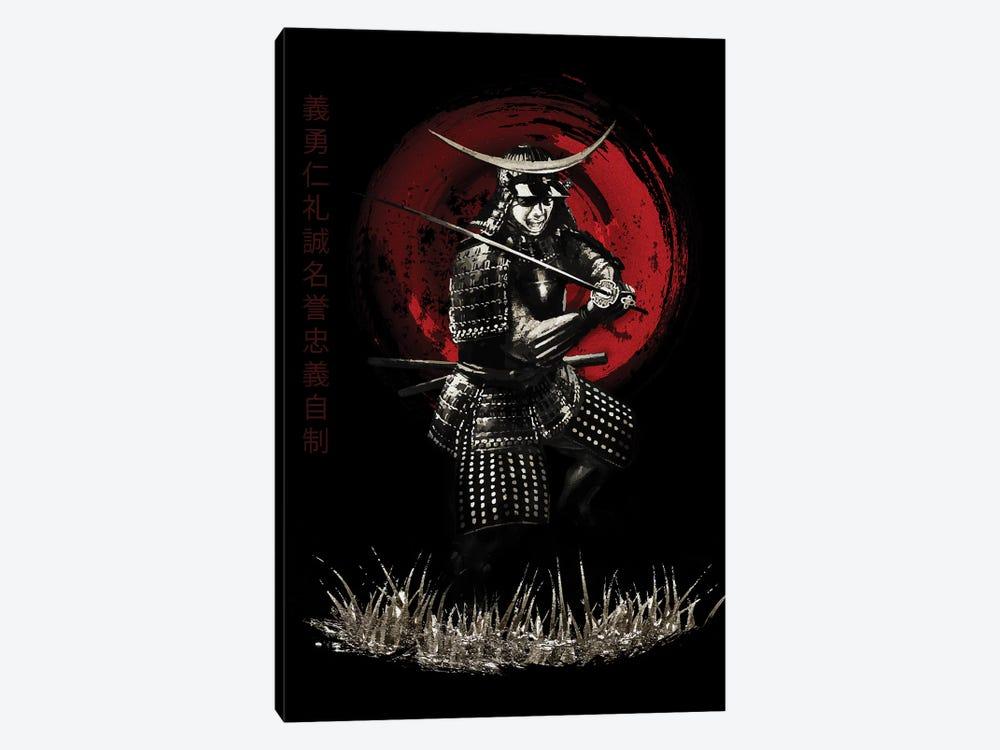 Bushido Samurai Defending by Cornel Vlad 1-piece Canvas Art Print