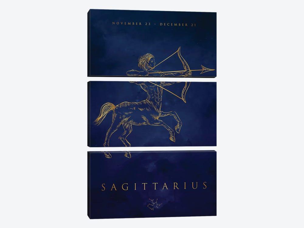 Sagittarius by Cornel Vlad 3-piece Canvas Artwork