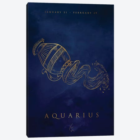 Aquarius 3-Piece Canvas #CVL184} by Cornel Vlad Art Print
