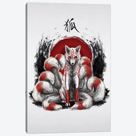Japanese Nine Tailed Fox Kitsune Canvas Print #CVL186} by Cornel Vlad Art Print
