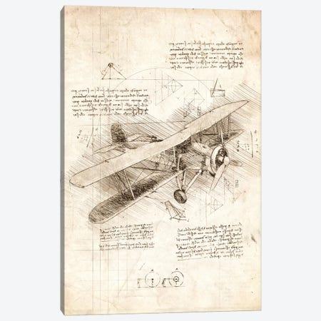 Biplane Aircraft Canvas Print #CVL187} by Cornel Vlad Art Print