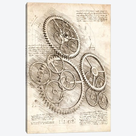Cogs And Gears Canvas Print #CVL188} by Cornel Vlad Canvas Wall Art