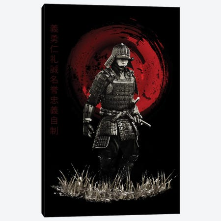 Bushido Samurai Marching Canvas Print #CVL18} by Cornel Vlad Canvas Print