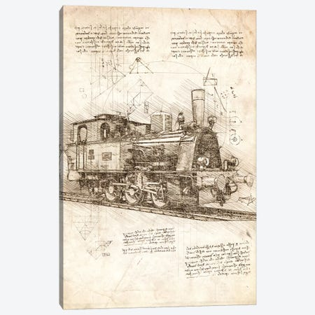 Locomotive Canvas Print #CVL191} by Cornel Vlad Canvas Print