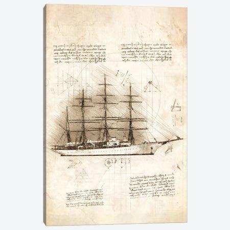 Sailing Ship Side View Canvas Print #CVL194} by Cornel Vlad Canvas Art