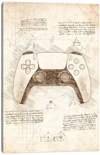 Playstation 5 Controller Canvas Art Print
