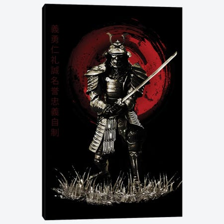 Bushido Samurai Ready Canvas Print #CVL19} by Cornel Vlad Canvas Art Print
