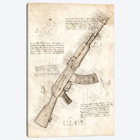 Ak47 Canvas Print #CVL201} by Cornel Vlad Canvas Print