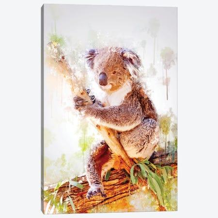 Koala On A Branch Canvas Print #CVL205} by Cornel Vlad Canvas Artwork