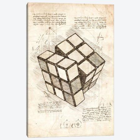 Rubiks Cube Canvas Print #CVL210} by Cornel Vlad Canvas Wall Art