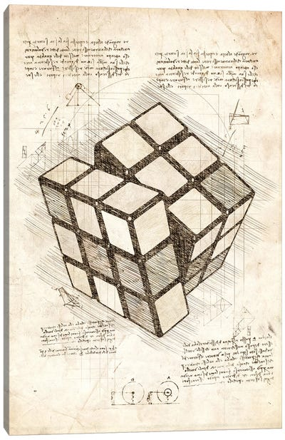 Rubiks Cube Canvas Art Print