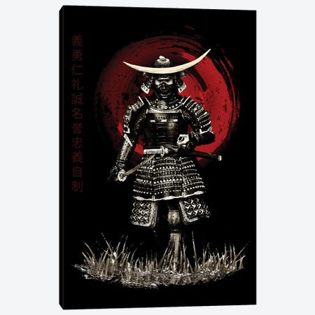 Bushido Samurai Attack Ready Canvas Print #CVL21} by Cornel Vlad Canvas Art