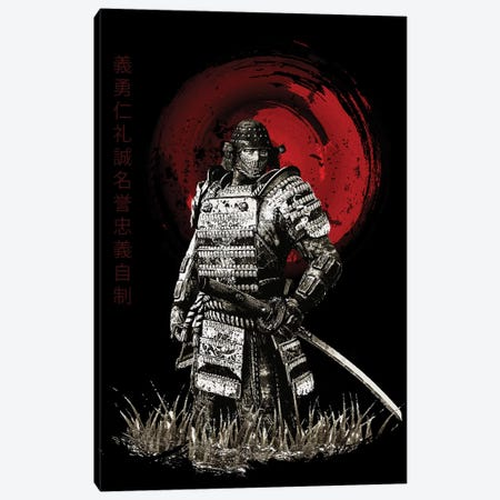 Bushido Samurai Looking Canvas Print #CVL22} by Cornel Vlad Canvas Artwork
