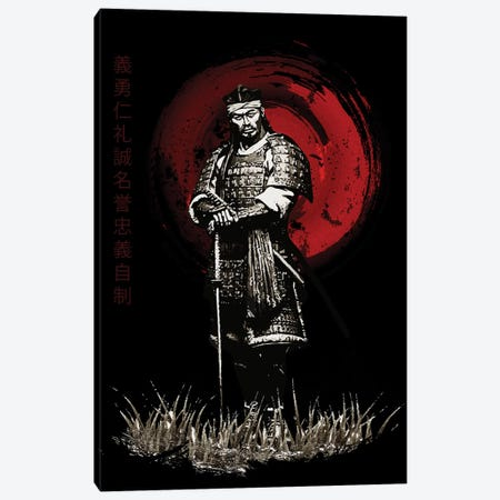Bushido Samurai Posing Canvas Print #CVL23} by Cornel Vlad Canvas Wall Art