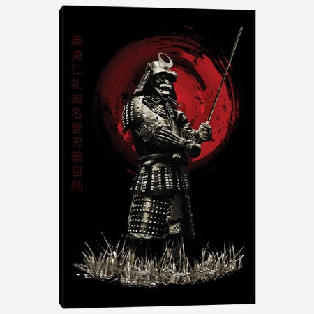 Bushido Samurai Standing Strong Canvas Print #CVL24} by Cornel Vlad Art Print