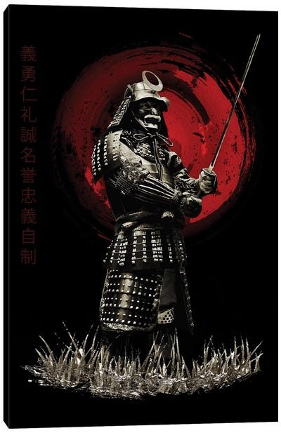 Bushido Samurai Standing Strong Canvas Art Print