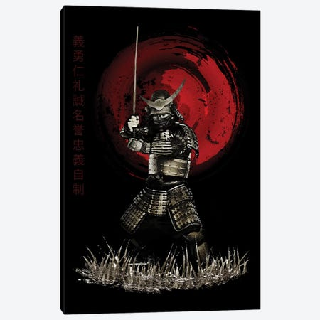 Bushido Samurai Strong Stance Canvas Print #CVL27} by Cornel Vlad Canvas Art Print