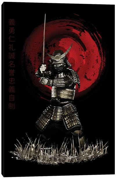 Bushido Samurai Strong Stance Canvas Art Print