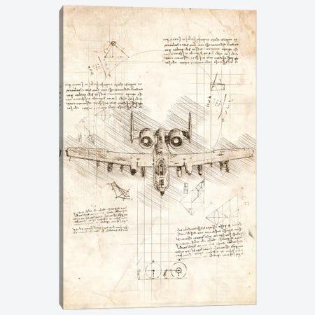 A10 Thunderbolt Canvas Print #CVL29} by Cornel Vlad Canvas Artwork