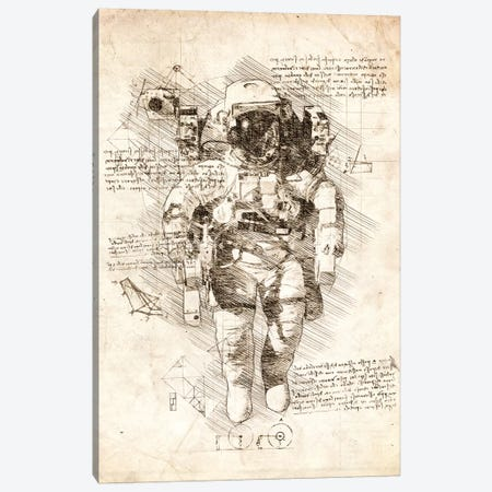 Astronaut Suit Canvas Print #CVL31} by Cornel Vlad Canvas Print