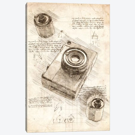 Camera And Film Canvas Print #CVL33} by Cornel Vlad Canvas Print
