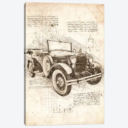 Old Ford Model T Canvas Print #CVL34} by Cornel Vlad Canvas Art
