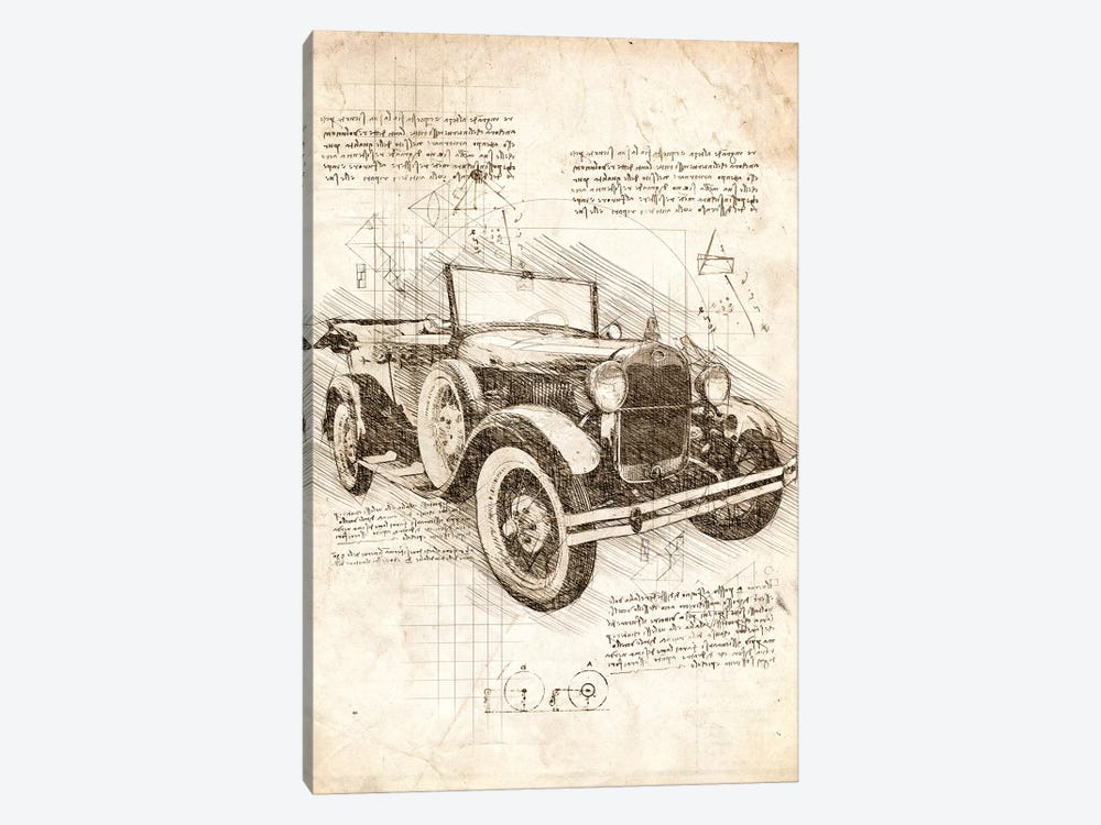 Old Ford Model T by Cornel Vlad 1-piece Canvas Art