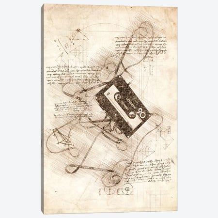 Cassette Tape Canvas Print #CVL35} by Cornel Vlad Canvas Artwork