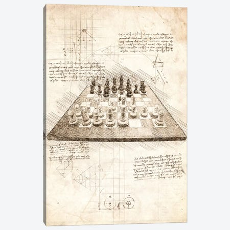 Chess Board Canvas Print #CVL36} by Cornel Vlad Canvas Wall Art