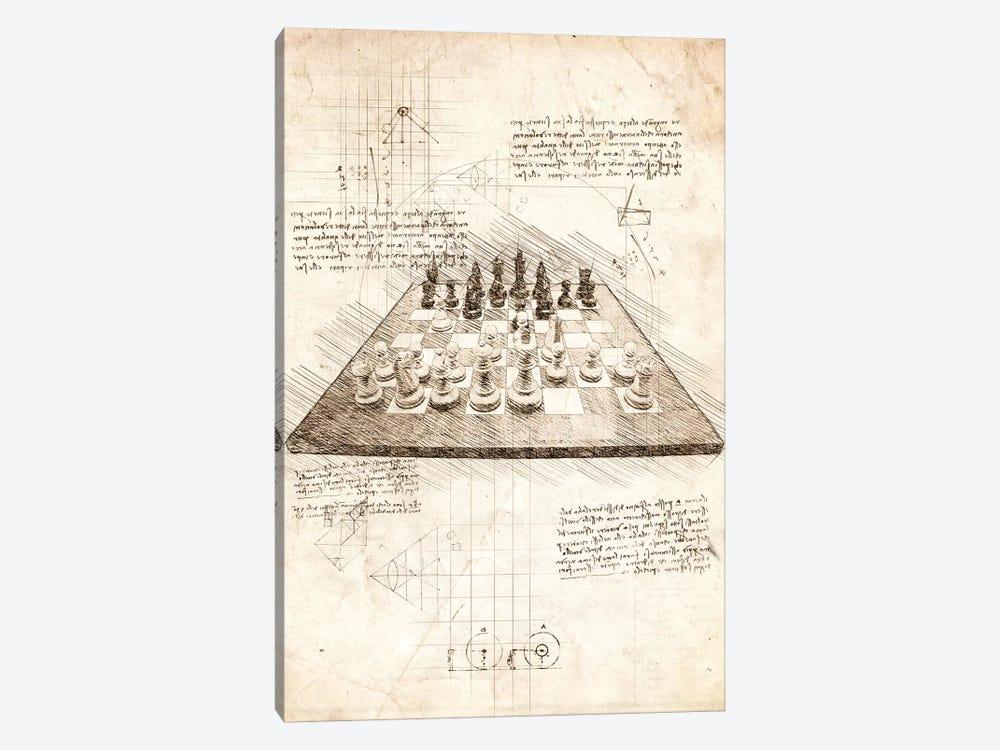 Chess Board by Cornel Vlad 1-piece Canvas Artwork