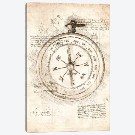 Compass 3-Piece Canvas #CVL38} by Cornel Vlad Canvas Print