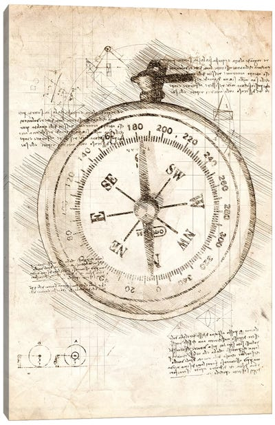 Compass Canvas Art Print