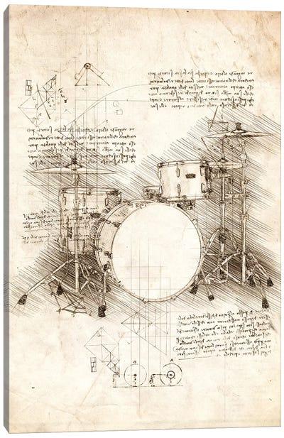 Drum Set Canvas Art Print