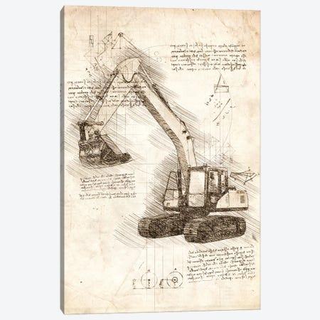 Excavator Canvas Print #CVL41} by Cornel Vlad Canvas Artwork