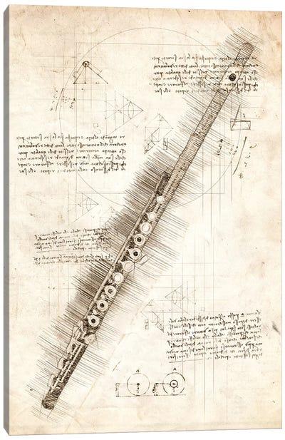 Flute Canvas Art Print