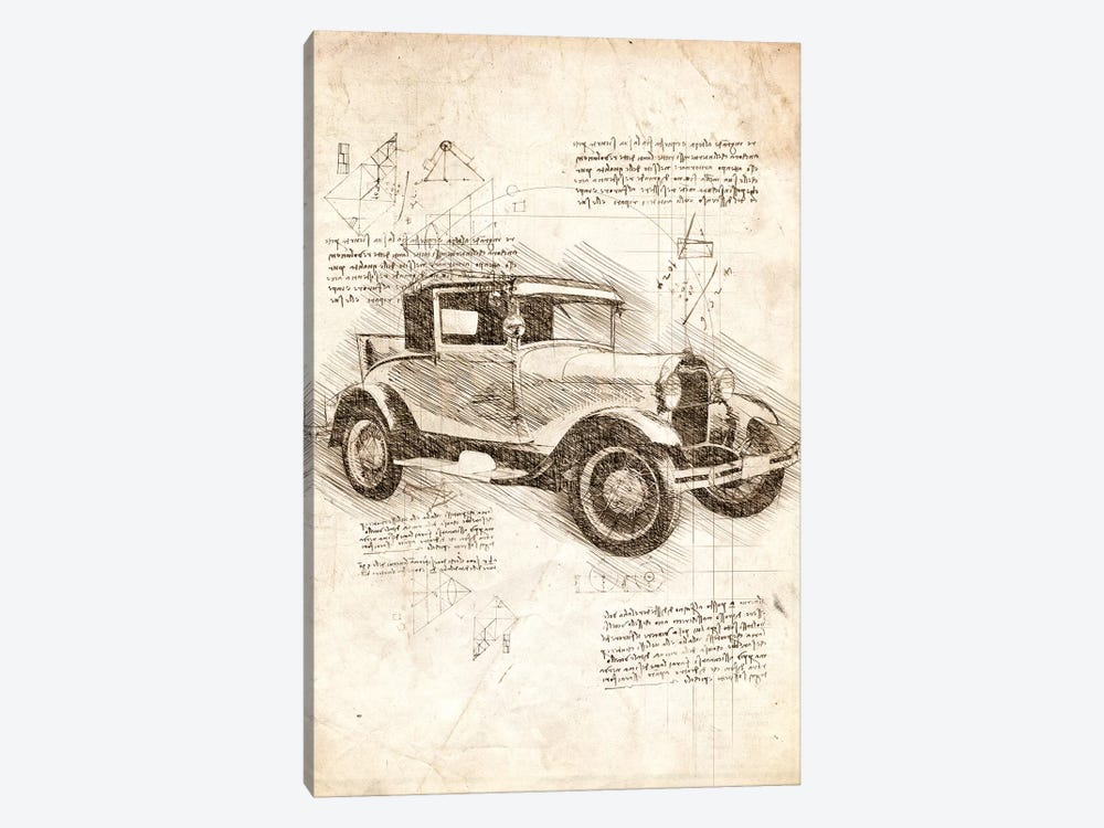 Ford Model T by Cornel Vlad 1-piece Canvas Print