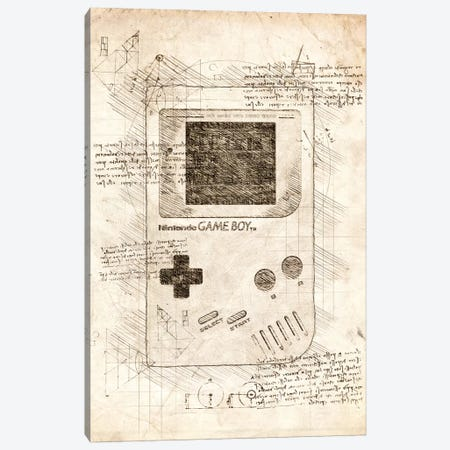 Gameboy Canvas Print #CVL45} by Cornel Vlad Canvas Print